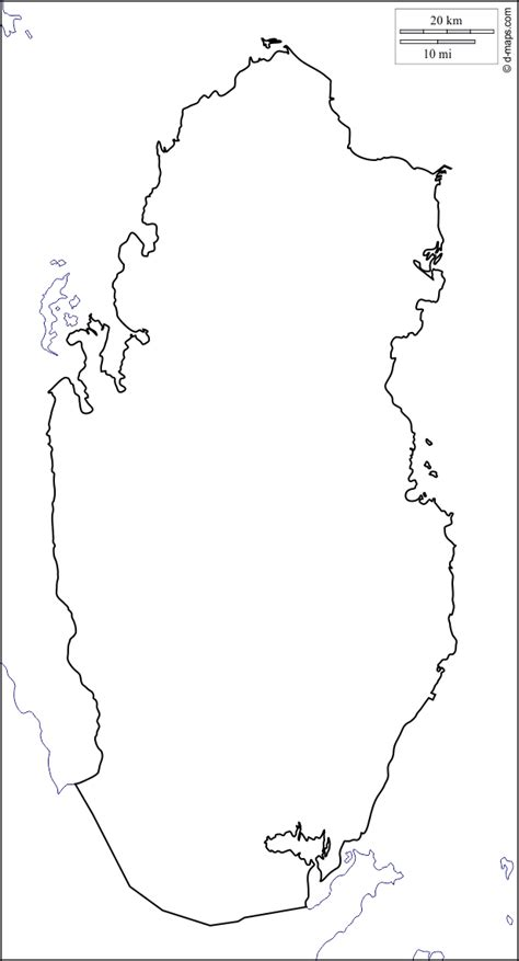 qatar  map  blank map  outline map