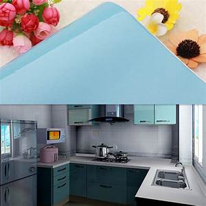 blue kitchen contact paper gloss units cupboard doors With what kind of paint to use on kitchen cabinets for door mural sticker