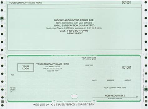 business check template accounting corporation checks and forms