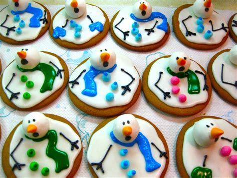 diy cute melted snowman cookies recipe beesdiycom