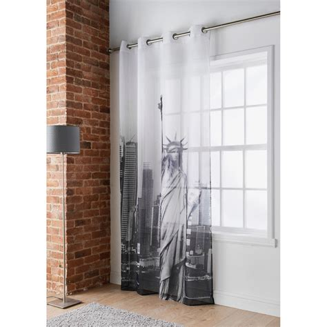 b m cities printed voile new york voile curtains