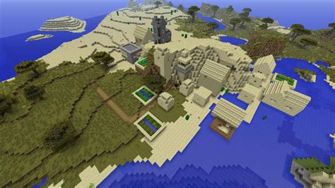 fileminecraft xbox  seed village  spawn water desert