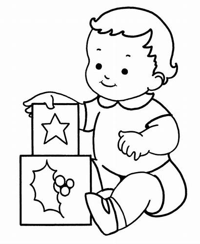 Coloring Pages Printable Presents Christmas Blocks Sheets