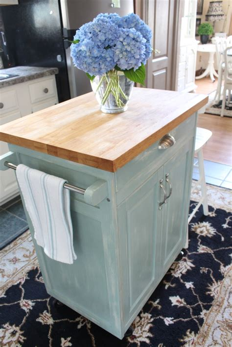 diy kitchen island cart rolling kitchen cart makeover confessions of a serial do 6846