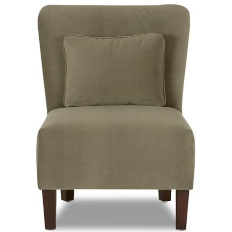 klaussner chairs and accents minnie armless contemporary