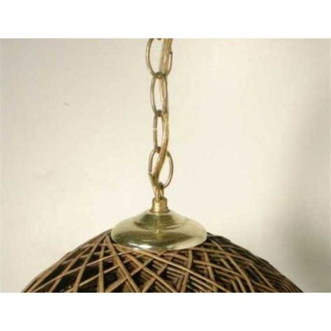 brown hippie vintage hanging ceiling light rattan swag l