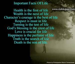 Important Facts Of Life,life quote | Inspirational Quotes ...