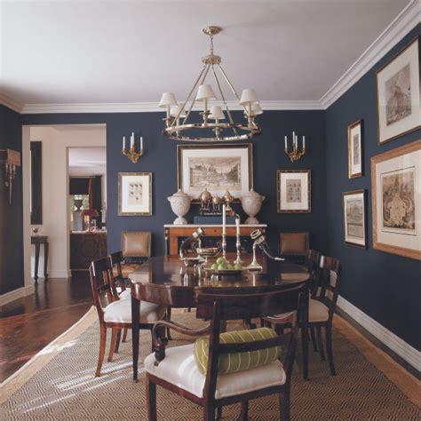 mary mcdonalk dark blue dining wwood tones noel