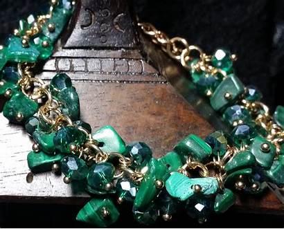 Malachite Bracelet Crystals Reduced Them Norma Iris