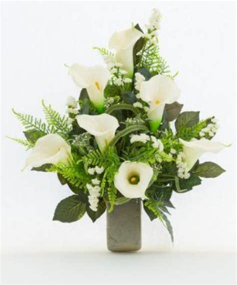mazzi di fiori finti mazzo di fiori artificiali per loculo con calle ml003