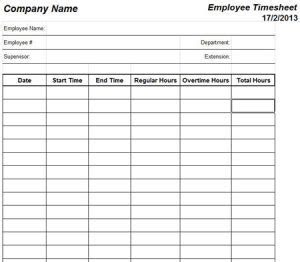 printable monthly timesheet template business card