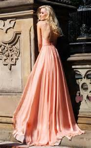 coral bridesmaid dresses pastel coral bridesmaid dress with open back onewed