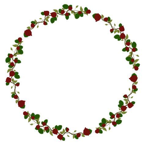 beautiful rose wreath vector frame border leaf rose png