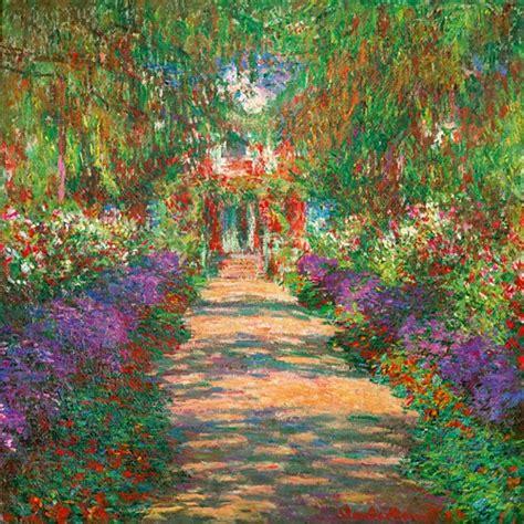 Wandbild Claude Monet, Garten In Giverny  Art Galerie