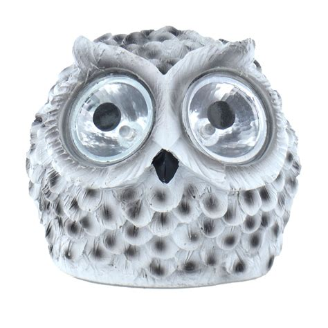 novelty solar powered owl led light outdoor garden