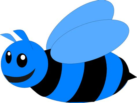 bee clipart png blue bee clip at clker vector clip