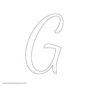 Cursive Letter Stencils G