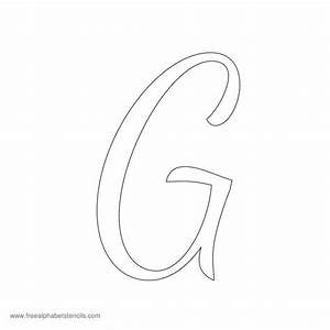 images for gt cursive letter g With cursive letter stencils free
