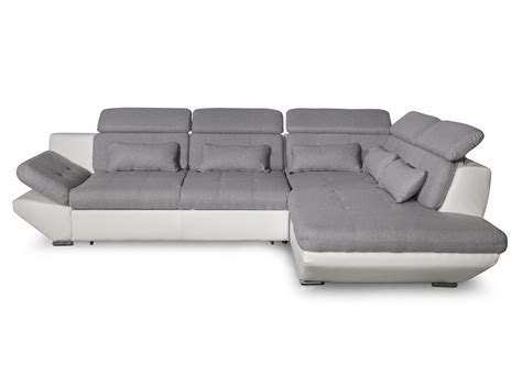 canapé bi matière canapé convertible avec tiroir bi matière gris clair