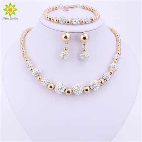 High Quality Gold Color Jewelry Set Nigerian Wedding