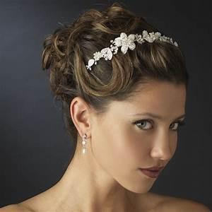 Floral Bridal Headband Headpieces Elegant Bridal Hair