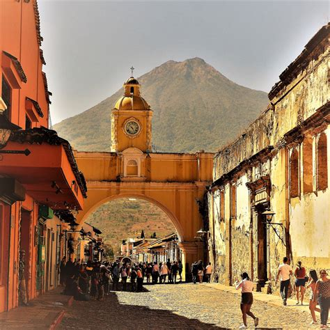 Volcanoes And Vibrant Colors Of Antigua Guatemala
