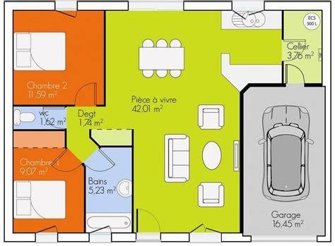 plan maison plain pied 3 chambres gratuit maison plain pied 2 chambres plans maisons