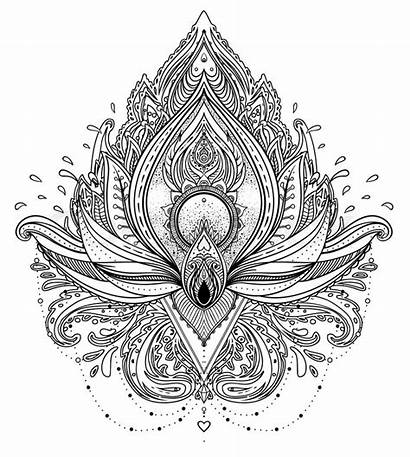 Mandala Spiritual Psychedelic Tattoo Neon Spirituality Pattern