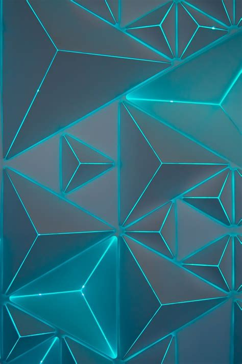 wallpaper triangles neon turquoise teal geometric