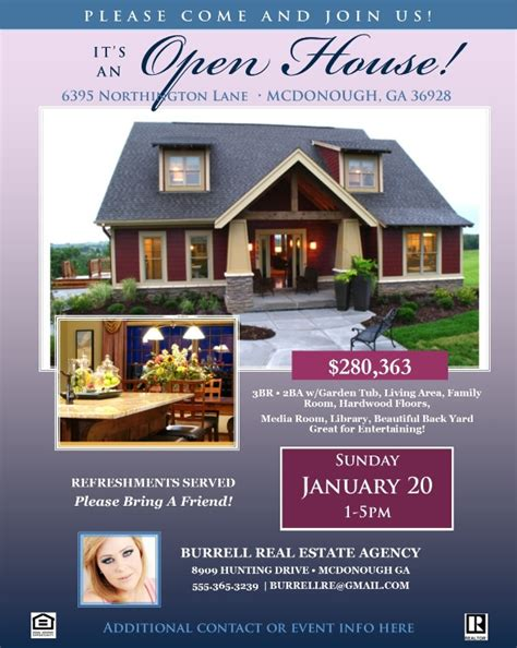open house flyers sample templates