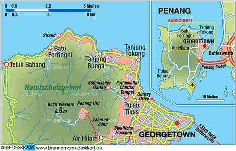 map  penang island  malaysia welt atlasde
