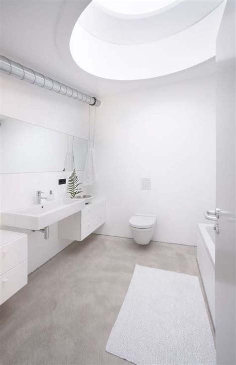 polished concrete bathroom floor concrete floors house pinterest