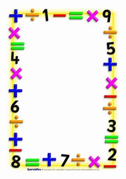 Borders Math Maths A4 Themed Sparklebox Border