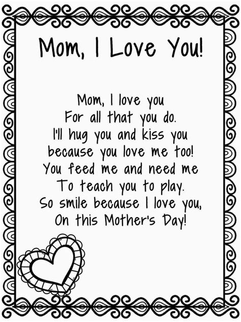 mothers day poems for preschoolers happy mothers day poems 2018 make day special with a 304
