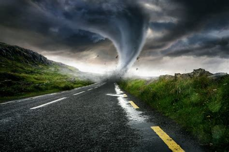 tornado storm wall mural wallpaper