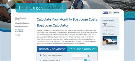 Used Boat Loan Rates And Terms by Boat Loan Calculator Boat Loans Rate Calculator For Your