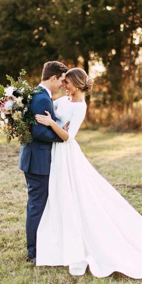 Brautkleider └ hochzeit & besondere anlässe └ spezielle anlässe └ kleidung & accessoires alle kategorien. 3/4 Sleeve Modest Wedding Dresses Backless Simple Long ...