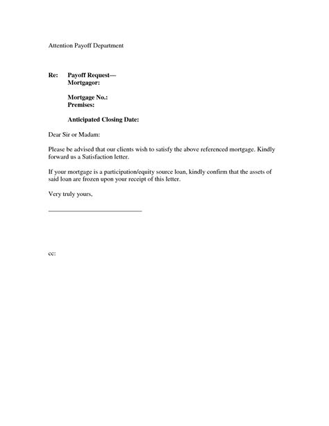 loan satisfaction letter template samples letter templates
