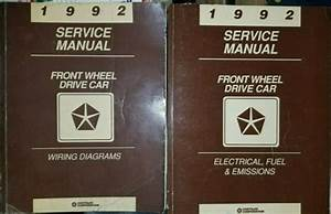 1992 Chrysler Dodge Plymouth Service Manual Wiring