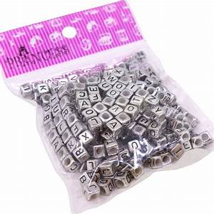 6mm cube acrylic alphabet letter beads for jewelry making With alphabet letters for jewelry making