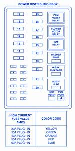 Ford F-350 Lariat Diesel 2003 Power Distribution Fuse Box  Block Circuit Breaker Diagram