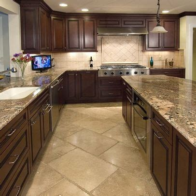brown floor tiles kitchen kitchen floor tile cabinets with tile floor 4937