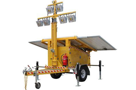 portable trailer lights halcyon solar led light tower trailer rental san diego