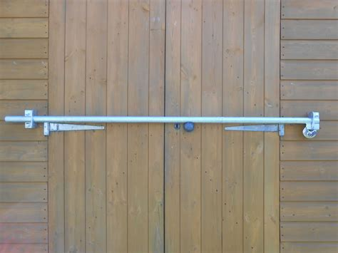 locks for shed doors shed door security bar heavy duty diy galvanised 1100mm