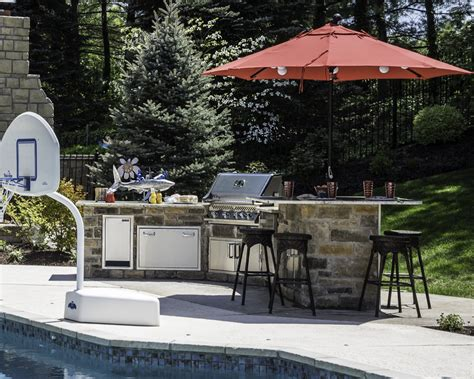 outdoor kitchen height outdoor kitchens grilling area bbq fireplaces chesterfield st louis