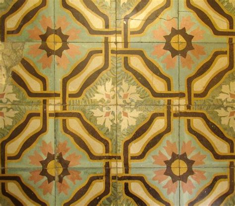 checkered traditional cuban ceramic mosaic tile background