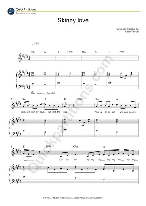 Funky Bon Iver Skinny Love Chords Frieze - Song Chords Images - apa ...