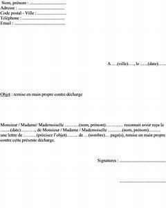 Lettre De Déclaration De Sinistre Causé Par Un Tiers : mod le de lettre pour remise en main propre contre d charge ~ Gottalentnigeria.com Avis de Voitures