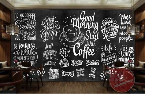 What's your favourite coffee shop? Wallpaper Dinding Custom Buat Coffee Shop Coffeeshop - Background Tembok Cafe - 1000x651 ...