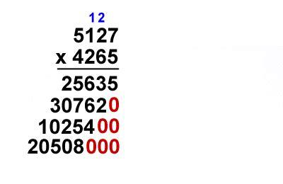 kids math long multiplication